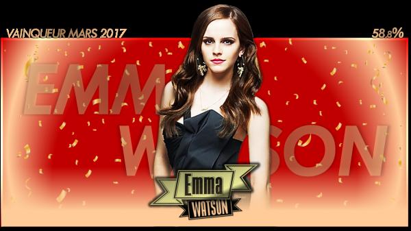 Vainqueur Mars 2017 : Emma Watson