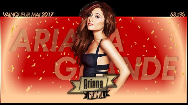 Vainqueur Mai 2017 : Ariana Grande