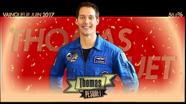 Vainqueur Juin 2017 : Thomas Pesquet