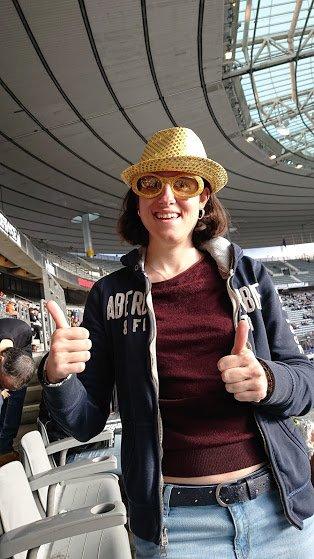 Moi au concert des années 80 au Stade de France