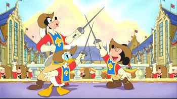 Les trois mousquetaires 2004 disney - Donald et dingo ...