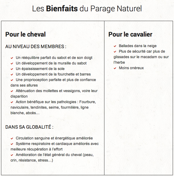 "Le Parage ""Naturel"""