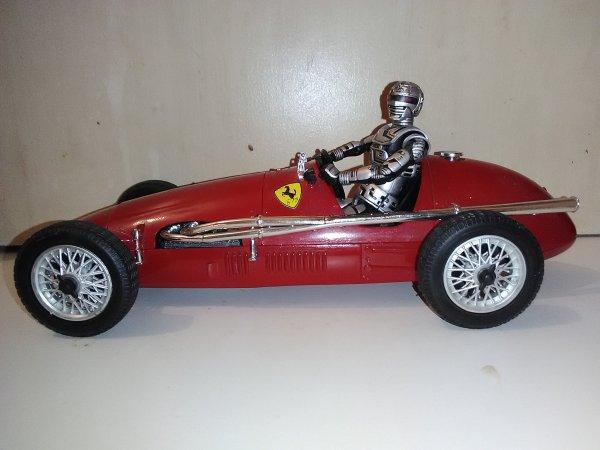 X or en course avec ça Ferrari la 500f2