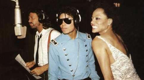 Michael Jackson, Barry Gibb, et Diana Ross, en studio...
