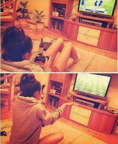 kiffe si tu trouve que les filles peuvent jouer a des jeux videos!