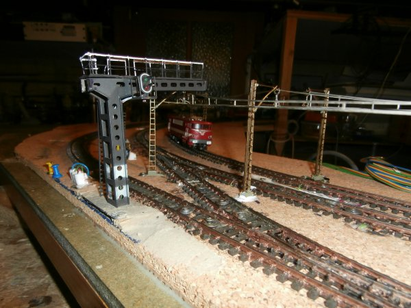 Ballastage du second module de la gare de passage.