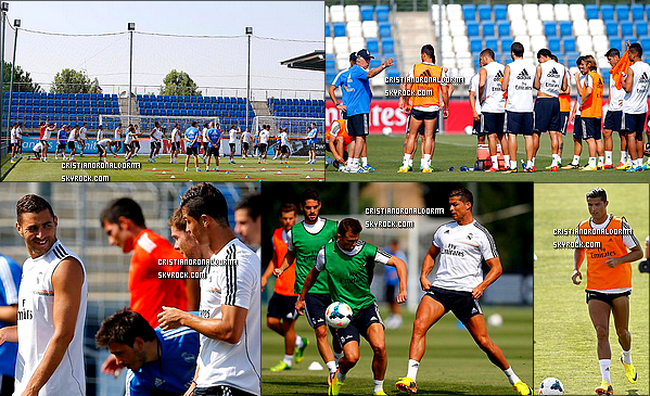 18/07/13 : Cristiano était présent à l'entraînement du Real où X.Alonso a rejoint les autres joueurs .                On y apperçoit le nouvel entraîneur du Real : Carlo Ancelotti, Pepe, Kaka, Benzema, etc .