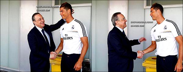 20/07/13 : Cristiano était présent à l'entraînement du Real Madrid, au Stade Bernabeu, à Madrid  Celui-ci est le dernier avant le Match qui aura lieu demain au Stade Goldsands face à AFC Bournemouth .