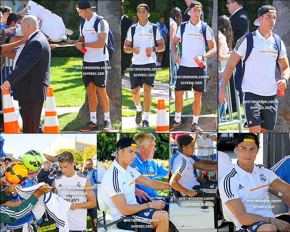 29/07/13 : C. était à l'entraînement du Real à l'Université de Californie de Los Angeles , USA . David Beckham (lui aussi de passage à LA) leur à d'ailleurs rendu une visite pendant leur entraînement et à l'hôtel où logent les Madrilènes. Le Real affrontera Los Angeles Galaxy le 1er Août (l'ancienne équipe de David Beckham) ! Pour les matchs à venir on apperçoit l'arrivée d'Iker Casillas, Xabi Alonso et Raphaël Varane, bléssés lors des précédents matchs .