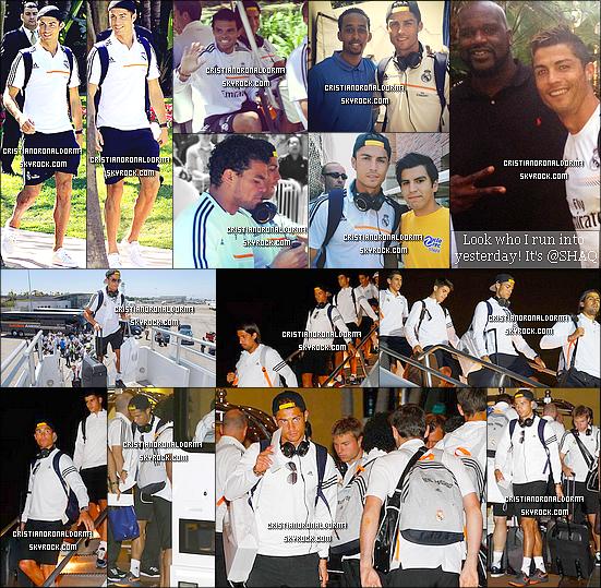 05/08/13 : Dernier entraînement du Real à Los Angeles , puis le Real et Cris se sont rendus à Miami . Le Real s'est rendu à Miami pour le match qui aura lieu le 08/08 face à Chelsea . Découvrez leur départ et leur arrivée à Miami. Cris avait pris le tant de prendre quelques photos avec des fans ! Diffusion du match, le 08/08 à 2h55 et rediffusion à 15h45 sur BeinSport !
