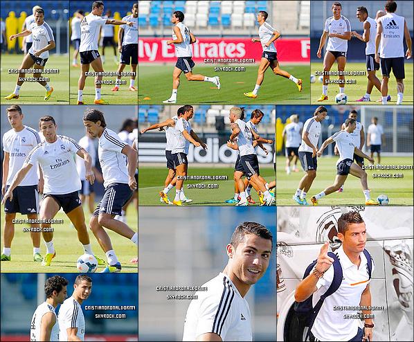 17/08/13 : Cristiano était à l'entraînement du Real, le dernier avant le premier match de Liga . 18/08/13 : Cristiano et les autres joueurs du Real se rendant à un rassemblement de l'équipe , suite au début de Liga qui commence ce soir face au Bétis Séville, Stade Santiago Bernabéu, Madrid . Diffusion - 18/08 - 20h55 sur BeinSport2 .