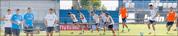 20/08/13 : Cristiano était au premier entraînement du Real de la semaine .