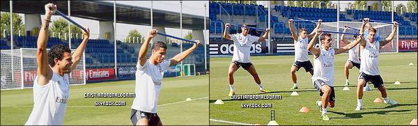 21/08/13 : Cristiano était à l'entraînement du Real , le dernier avant le match face à Al Sadd . Le joueur Raùl leur a d'ailleurs rendu visite . A l'issue du trophé Santiago Bernabéu, les deux équipes s'affronteront ce jeudi 22 août . Diffusion : 22/08 - 22h25 - BeinSportMax - Rediffusion : 24/08 - 10h00 - BeinSport . Victoire du Real? But(s) de Cristiano?
