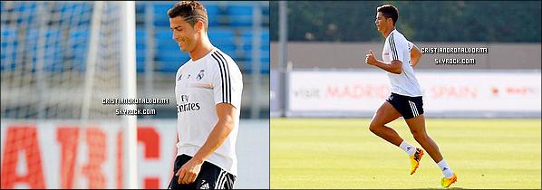 22/08/13 - 23 /08/13 : Cristiano était à l'entraînement du Real .