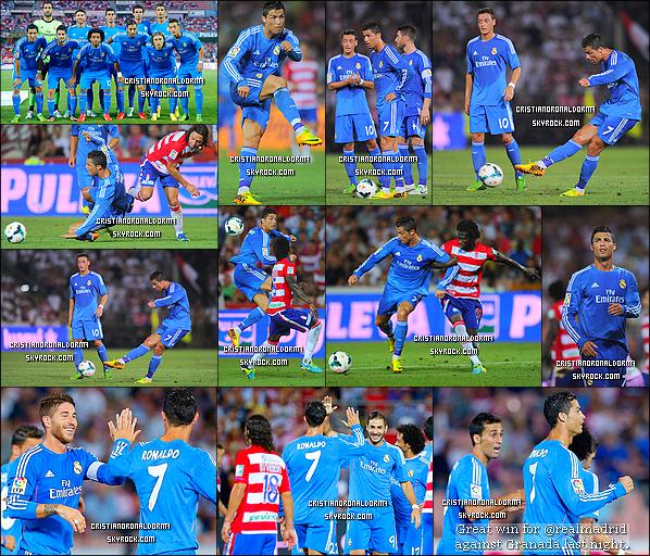 26/08/13 : Cristiano et le Real ont disputé leur deuxième match de Liga face à Grenade . Et le Real s'est imposé 1-0 grâce à un but de Benzema (10'), d'une passe décisive de Cristiano !