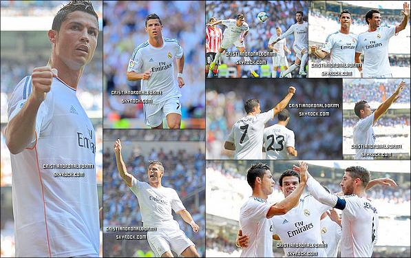 + 31/08/13 : Cristiano et ses coéquipiers du Real se sont rassemblés pour le match face à l'Athletic Bilbao Les Madrilènes , dont Cristiano, ont été réunit pour une mise au point avant le match de ce midi, pour la 3ème journée de Liga .