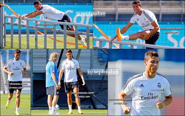 09/09 & 10/09/13 : Cristiano s'est entraîné avec le Real suite au match de vendredi face à Villarreal CF (4ème J. de Liga).