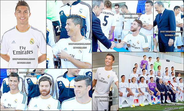 13/09/13 : C'est avec un grand sourire que Cristiano s'est entraîné avec le Real. Le Real s'est entraîné avant le match de ce soir face à Villarreal. Diffusion : 14/09 - BeinSport - 21h55.