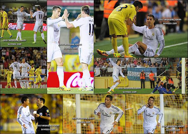 14/09/13 : Cristiano a disputé le match du Real face à Villarreal, et c'est un match nul avec 2-2 . Après l'égalisation de Bale (38') , Cristiano a marqué à son tour (64') . + Une vidéo du match de Cristiano.