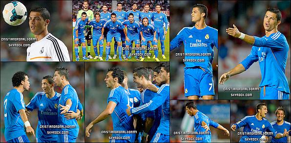 25/09/13 : Cristiano a disputé le match du Real face à Elche avec un score de 2-1   Grâce à un doublé de Cristiano (51', 96') le Real réussi à s'imposer 2-1 malgré plusieurs cartons jaunes pour les deux équipes .