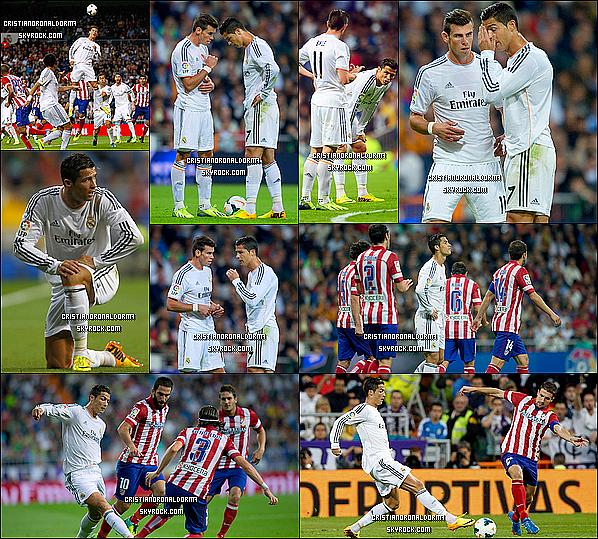 29/09/13 : Cristiano a disputé le match du Real face à l'Atlético Madrid , pour la 7ème journée de Liga. Et c'est une première défaite en Liga avec un score de 1-0. Le Real a 5 points de retard par rapport au Barça & à l'Atlético + Interview d'après match de Cristiano.