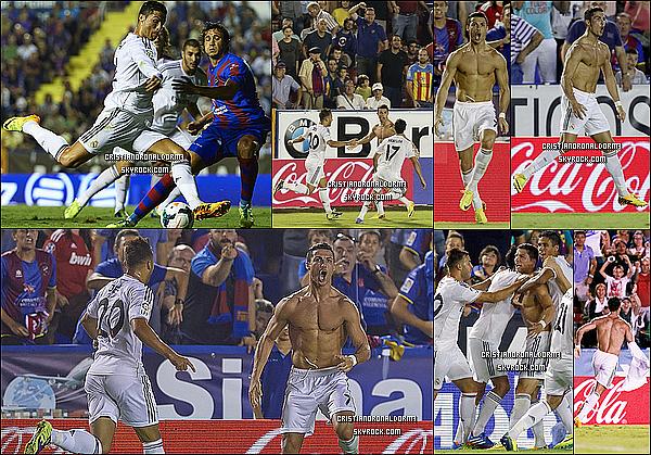 5/10/13 : Cristiano a disputé le 8ème match de Liga de cette saison avec le Real face à Levante Le Real s'est imposé difficilement 3-2 ,  grâce à un but de S.Ramos ( 61' ) , de Morata ( 90' ) & de Cristiano ( 94' )   # Découvrez l'arrivée de Cristiano à Valence.