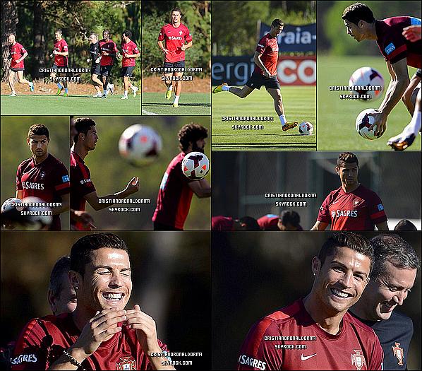 7/10/13 : Cristiano arrive à Obidos , au Portugal pour commencer les séances d'entraînement qui suivront La sélection portugaise s'est entraîner le 7/10 pour le match face à l'Israël le 11/13 qui comptera pour les éliminatoires de la Coupe du Monde