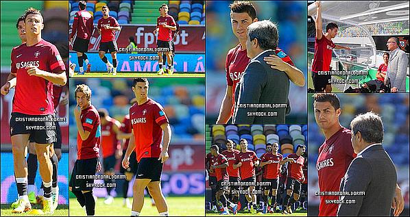 10/10/13 : Dernier entraînement pour le Portugal & pour Cristiano avant le match face à l'Israël . Le match aura lieu à Alvalade le 11/10.                     # Cristiano a été interviewé lors d'une conférence de presse