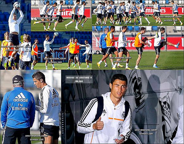 15/10/13 : Cristiano étant suspendu du match Portugal / Luxembourg, il était à l'entraînement du Real .