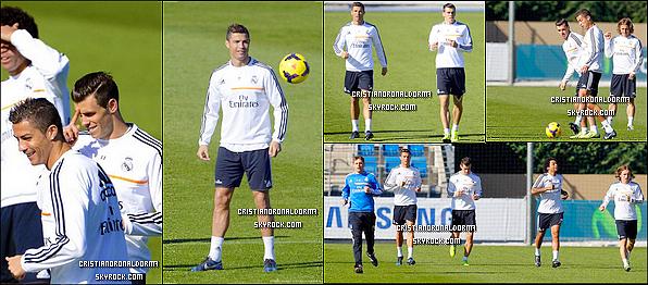 28/10/13 & 29/10/13: Cristiano était aux entraînement du Real,les derniers avant le match face à Séville FC Pour la onzième journée de Liga, les Madrilènes affronteront Séville FC le 30 octobre. Diffusion : 30/10 - 21H55 - BeinSport 2