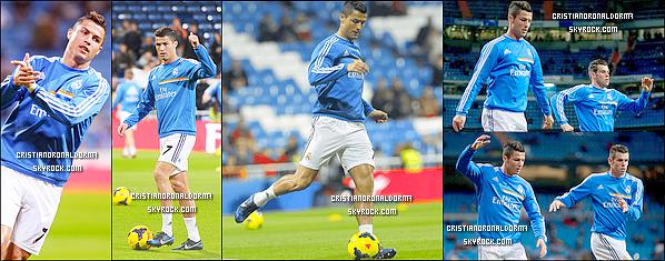 30/10/13 : Cristiano a disputé le match de Liga opposant le Real à Séville, le Real s'est imposé 7-3 Le triplé de Cristiano ainsi que le doublé de Bale et de Benzema ont permis au Real de remonter dans le classement Liga