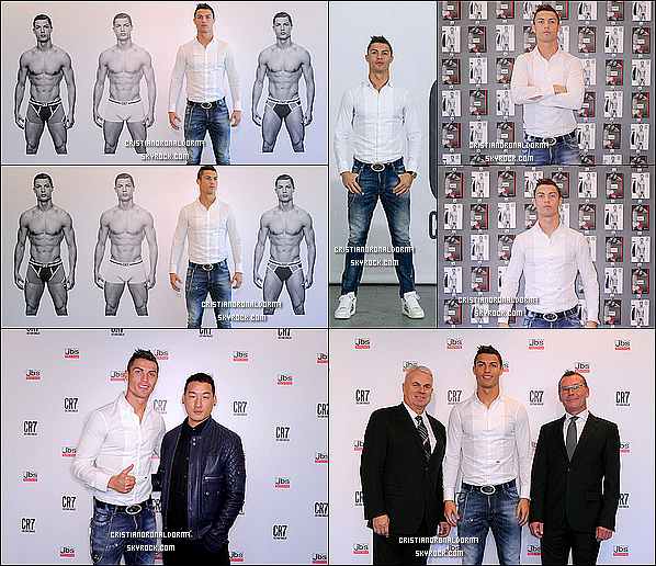- 31/10/13 : Cristiano a présenté sa propre collection de sous-vêtements au palais de Cibeles à Madrid CR7 Underwear est disponible à partir du 1er novembre sur ce site: www.CR7underwear.com. Cristiano a fait partagé sa joie sur son compte Instagram -