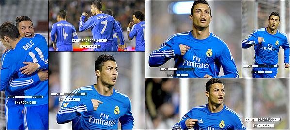 - 02/11/13 : Cristiano a disputait le match opposant le Real à Rayo Vallecano où le Real s'est imposé 3-2 Pour la 12ème journée de Liga, le Real repart avec une victoire grâce à un doublé de Cristiano (3', 48') et à un but Benzema -
