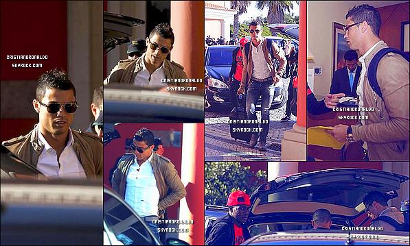 - 11/11/13 : Cristiano est arrivé à Obidos, Portugal suite au match de barrage face à la Suède le 15/11 -