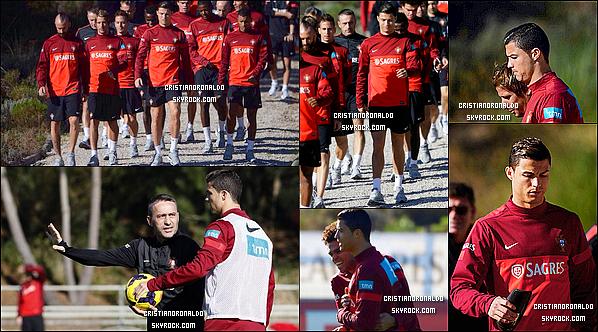 - 13/11/13 : Cristiano s'est entraîné avec la sélection portugaise pour préparé le match face à la Suède Pour ce match aller de barrage,le Portugal de C.Ronaldo affrontera la Suède de Zlatan Ibrahimovic. Diffusion: 15/11 - 20H40 - Canal + Sport -