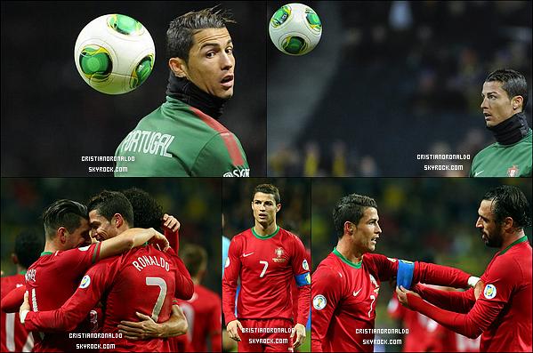 - 19/11/13 : Direction Brésil pour le Portugal, grâce à Cristiano qui a inscrit un triplé au match retour  Le Portugal s'est imposé 3-2 sur la pelouse suédoise, malgré sa blessure au pied, Cristiano n'a pas laché et a marqué un triplé en seconde mi-temps -