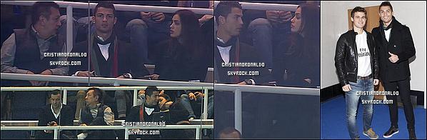 - 30/11/13: Cristiano a assisté au match Real Madrid/Valladolid au côté de sa compagne Irina Shayk Pour ce match de Liga, le Real s'est imposé 4-0 grâce à un triplé de Bale et un but de Benzema. Le Real reste troisième derrière le Barça et l'Atlético -