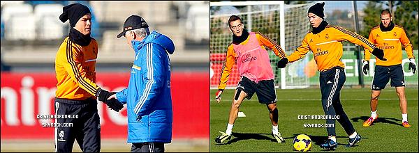 - 19/12/13 : Cristiano a commencé les entraînements avec le Real avant le match face à Valence -