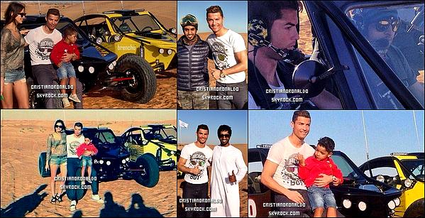 - 26/12/12 : Cristiano a été apperçu dans un désert à Dubaï où il se trouve actuellement avec Irina Shayk & son fils  Puis, le lendemain, avec sa compagne: Irina, il a été vu à Dubaï Mall, le plus grand des centres commerciaux aux Émirats arabes unis ( mauvaise qualité ) -