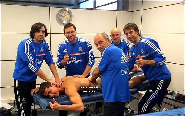 - 30/12/13 : Cristiano était à l'entraînement du Real  -