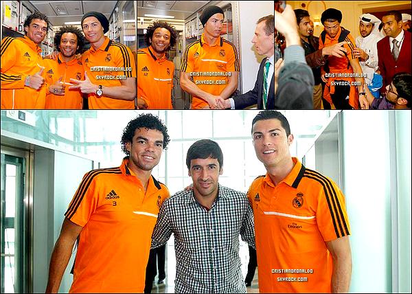 - 01/01/14 : Cristiano & le Real sont arrivés dans la capitale du Qatar: Doha pour affronter le PSG au stade Khalifa  Le lendemain, Raùl a rendu visite aux Madrilènes à leur hôtel. Ce match marque la quatrième rencontre entre Zlatan Ibrahimovic et Cristiano en 6 mois. -