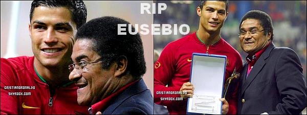 - RIP   ●●   Ce 5 janvier, une légende du football nous a quitté, le portugais Eusebio -