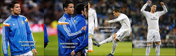 - 08/01/14 : Cristiano s'est rendu au dernier entraînement du Real avant le match face au CA Osasuna le 09/01  Vidéo de l'entraînement du 8/01 - Pour les huitièmes de final de la Coupe du roi, le Real affrontera le CA Osasuna . Diffusion : 09/01 -  21H25 - BeinSport -