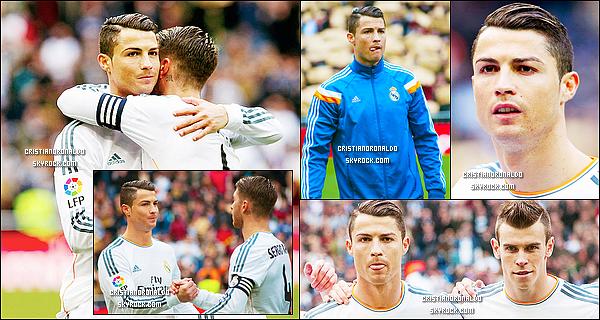 - 25/01/14 : Cristiano a disputait le match de Liga qui l'opposait à Grenade, le Real s'est finalement imposé 2-0  Pour cette 21ème journée de Liga, le Real  s'est imposé 2-0 grâce à un but de Cristiano & de Benzema & reste donc à 1 point du Barça & de l'Atlético -