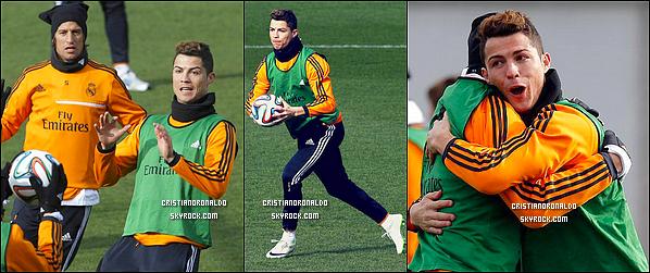 - 07/02/14 : Cristiano était au dernier entraînement du Real avant d'affronter l'équipe de Villarreal Cf en Liga   Bien que Cristiano se soit rendu à cet entraînement, il ne disputera pas ce match en raison de sa supension de 3 matchs reçu lors du match face à Bilbao -