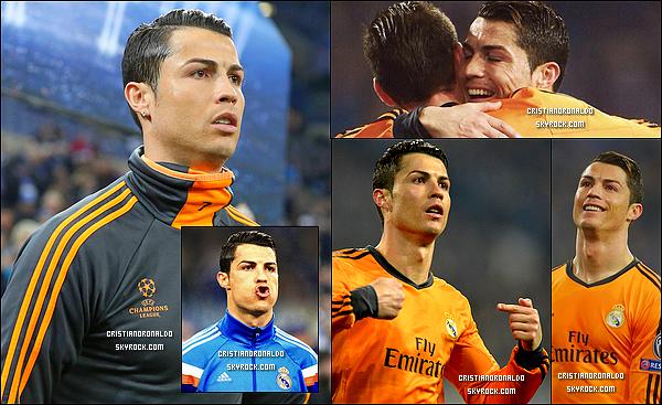 - 26/02/14 : Cristiano a disputé le match du Real face au FC Schalke où le Real s'est imposé 6-1  Pour ce match aller, le Real démontre une fois de plus sa puissance et est pratiquement sûr d'être qualifié pour les quarts de finale . -