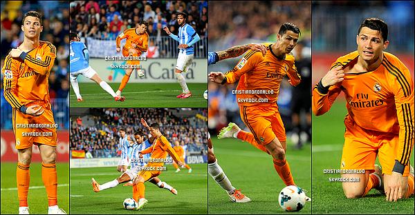 - 15/03/14 : Cristiano et le Real Madrid ont affronté Malaga en Liga, avec un score finale de 1-0 pour le Real  Pour cette 28ème journée de Liga, Cristiano a marqué un but, offrant la victoire à son équipe et lui permettant ainsi de rester leader du classement  -