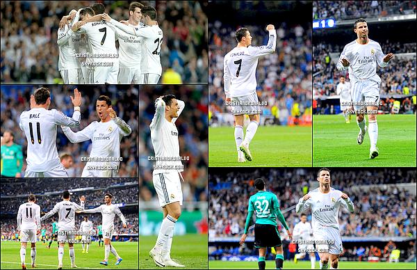 - 18/03/14 : Cristiano a disputé le match de Ligue des Champions opposant le Real Madrid et Schalke 04   Pour ce match retour des huitièmes de finale, le Real s'est imposé 3-1 grâce à un doublé de Cristiano,le Real se qualifie donc pour les quarts de finale  -