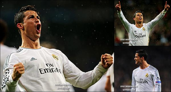 """- 02/04/14 : Cristiano et le Real ont affronté le B.Dortmund pour les quarts de la LDC, score final : 3-0 pour le Real  Le Real Madrid a pris sa revanche en s'imposant 3-0  contre Dortmund, son bourreau l'an dernier, en prime le 14ème but en """"C1"""" cette saison de Cristiano  -"""