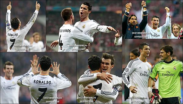 - 29/04/14 : Le Real se qualifie pour la finale de Ligue des Champions en s'imposant 4-0 face au Bayern Munich  Grâce à un doublé de Cristiano et de Ramos, le Real jouera la finale à Lisbonne. Grâce à ces deux buts, Cristiano bat le record de but en LDC avec 16 buts -